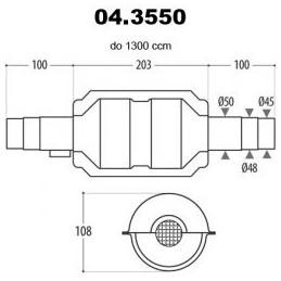 katalizator 45-50mm do...