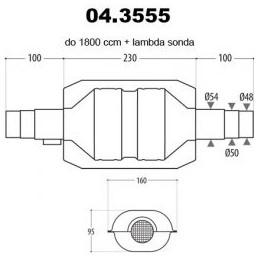 katalizator 48-54mm do...
